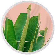 Banana Leaves Round Beach Towel by Rafael Farias