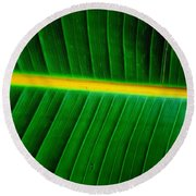 Banana Plant Leaf Round Beach Towel