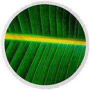 Banana Plant Leaf Round Beach Towel