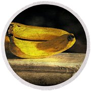 Round Beach Towel featuring the photograph Bananas Pedestal by Diana Angstadt