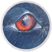 Eye Of The Bandit Round Beach Towel by T Fry-Green
