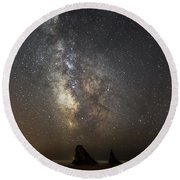 Bandon And Milky Way Round Beach Towel