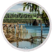 Bandon Drawbridge Round Beach Towel