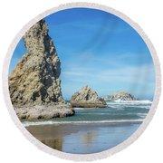 Bandon Rocks Round Beach Towel