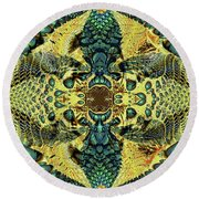Bane Tree Round Beach Towel by Jim Pavelle
