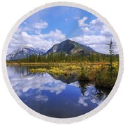 Banff Reflection Round Beach Towel