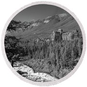 Banff Springs Hotel Round Beach Towel