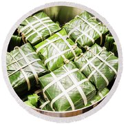Banh Chung Cake For Tet Round Beach Towel by For Ninety One Days