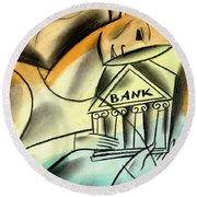 Banking Round Beach Towel