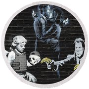 Banksy - Failure To Communicate Round Beach Towel