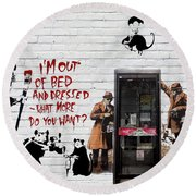 Banksy - The Tribute - Rats Round Beach Towel