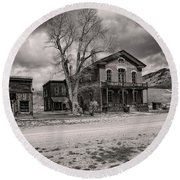 Bannack Montana Ghost Town Round Beach Towel
