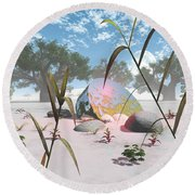 Baobabs Round Beach Towel