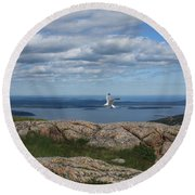 Bar Harbor View From Cadillac Round Beach Towel