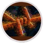 Barbed Round Beach Towel by Paul Wear