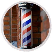 Barber Pole Round Beach Towel