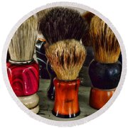 Barber - Shaving Brush Collection Round Beach Towel