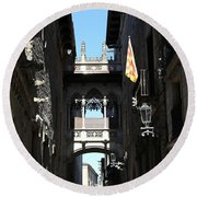 Round Beach Towel featuring the photograph Barcelona 1 by Andrew Fare