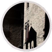 Round Beach Towel featuring the photograph Barcelona 2 by Andrew Fare