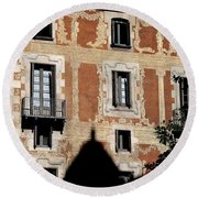 Round Beach Towel featuring the photograph Barcelona 3 by Andrew Fare
