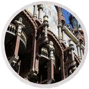 Round Beach Towel featuring the photograph Barcelona 4 by Andrew Fare