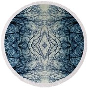 Bare Branch Connection Round Beach Towel