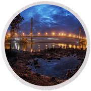 Barelang Bridge, Batam Round Beach Towel