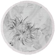 Barely There Round Beach Towel