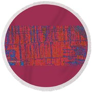Barn Abstract  Round Beach Towel by Tom Janca