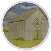 Barn Quilt Round Beach Towel