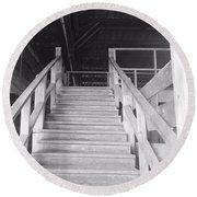 Barn Stairs Round Beach Towel
