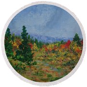 Barnardsville Branch Round Beach Towel