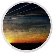 Barnegat Bay Sunset 1 - Jersey Shore Round Beach Towel