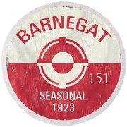 Barnegat Beach Badge Round Beach Towel