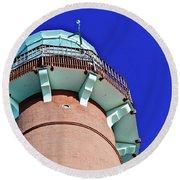 Barnegat Lighthouse Top Round Beach Towel