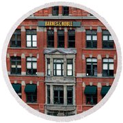 Barnes And Noble Union Square  Round Beach Towel
