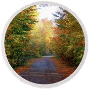 Barnes Road - Cropped Round Beach Towel