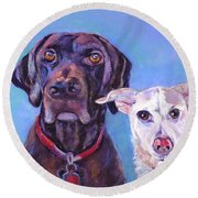 Barney And Casey Round Beach Towel