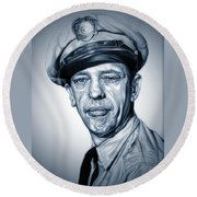 Barney Fife Round Beach Towel