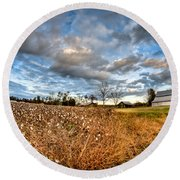 Barns And Cotton Round Beach Towel