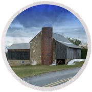 Barns And Country Round Beach Towel