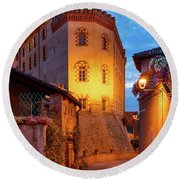 Round Beach Towel featuring the photograph Barolo Morning by Brian Jannsen