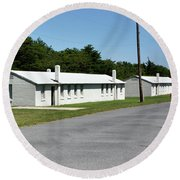 Barracks At Fort Miles - Cape Henlopen State Park Round Beach Towel by Brendan Reals