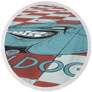 Barracks Bulldog Round Beach Towel