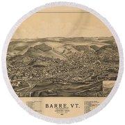 Barre Vermont 1891 Round Beach Towel