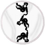 Barrel Full Of Monkeys T-shirt Round Beach Towel