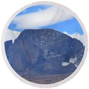 Round Beach Towel featuring the photograph Barren Mountain Landscape Colorado by Dan Sproul