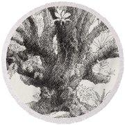 Barringtonia Tree Round Beach Towel