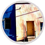 Round Beach Towel featuring the photograph Barrio Viejo 1 by Michelle Dallocchio