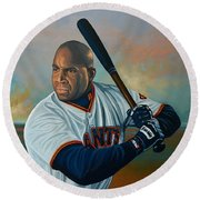 Barry Bonds Round Beach Towel